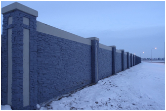 2.4m Custom Stackstone - Developer Perimeter Fence